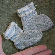 SALE Sweet Pair of Booties for larger doll
