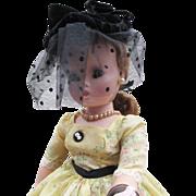 SOLD Black Velvet Cissy Hat