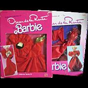 SOLD Two Oscar de La Renta Barbie Outfits from 1990