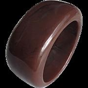 Bold Chunky Marbled Burgundy Lucite Bangle Bracelet