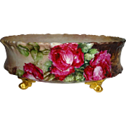 T&V - Limoges -French - Ferner - Jardiniere - Vase - Hand Painted - Romantic Victorian Bou