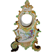 Stunning - Coiffe - Limoges - France - Porcelain Clock Case - Hand Painted - Victorian Floral