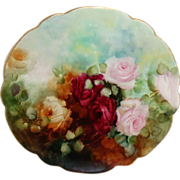 Limoges - France - Ranson Plate - Hand Painted - Romantic Bouquet - ROSES - Treasured Heirloom