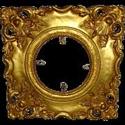 """SOLD Magnificent - Highly Ornate - Antique - Plaster - 14 1/2"""" Gold Frame for Porcelain P"""