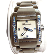 Swiss Made Faconnable Ladies Sapphire Hands and Bezel Watch