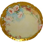Haviland & Co. - Limoges - France - Plate - Hand Painted - Romantic- Victorian Style - Bouquet