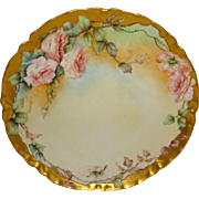 Lovely - Haviland - Limoges - France - Plate - Hand Painted - Romantic Bouquet - Pink Tea Rose