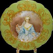 Artist Signed Antique French Limoges Hand Painted Portrait Plate of Elisabeth de Bourbon ...