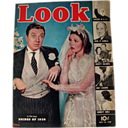 Look Magazine May Brides of 1938 Cover Vintage Periodical / Vintage Magazine 1930s / Gossip Ma