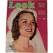 Look Magazine April 1939 Bride Cover Vintage Periodical / Vintage Magazine 1930s / Gossip Maga
