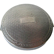 Silver Deauville Powder Compact by Richard Hudnut 1920s / Bridesmaid Gift / Vanity Item / Purs