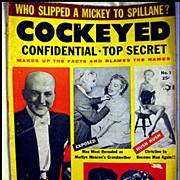 SALE 50% OFF Cockeyed Confidential - Top Secret  -- Vintage Rag Magazine 1955