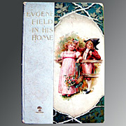 SALE Vintage Book Eugene Field In His Home 1898 Illustrated