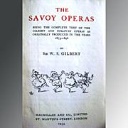 SALE Vintage Opera Book The Savoy Operas Gilbert and Sullivan Music1935