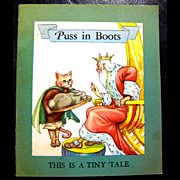 Puss In Boots - A Tiny Tale -- First Printing 1946