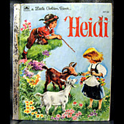 Vintage Little Golden Book - Heidi