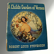 A Child's Garden Of Verses - Vintage Book Illustrated by Ruth Mary Hallock
