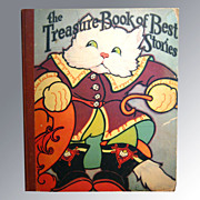 Treasure Book Of Best Stories / Childrens Illustrated Book / Fern Bisel Peat