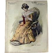 Vintage Life Magazine William Van Dresser Cover January 25 1912 / Turn of The Century Magazine