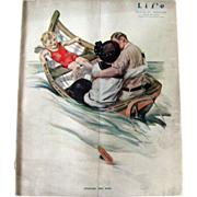 Vintage Life Magazine Henry Hutt Cover August 1914 / Turn of The Century Magazine / Vintage Ad