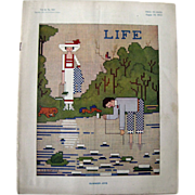 Vintage Life Magazine A D Blashfield Cover August 1913 / Turn of The Century Magazine / Vintag