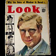 Look Magazine 1938 Duke Of Windsor / Vintage Periodical / Vintage Magazine 1930s / Gossip ...