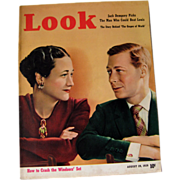 Look Magazine 1938 Duke and Duchess of Windsor Cover/ Vintage Periodical / Vintage Magazine ..