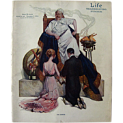 Vintage Life Magazine Paul Stahr Cover November 1912 / Turn of The Century Magazine / Vintage