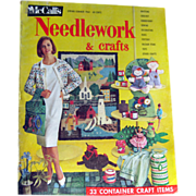 McCalls Needlework Magazine Spring Summer 1964 / Knitting / Crochet / Home Arts / Craft / Patt