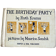 The Birthday Party Vintage Childrens Book / Maurice Sendak Illustration
