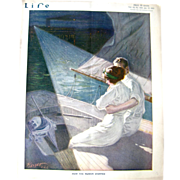 Vintage Life Magazine Charles Mark Releya Cover July 17 1913 / Turn of The Century Magazine ..