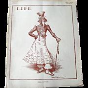 Vintage Life Magazine William H Walker Uncle Sam Cover March 26 1914 / Vintage Advertising / .