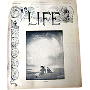 Vintage Life Magazine George W Eggers Cover September 28 1905 / Vintage Advertising / ...