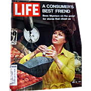 Vintage Life Magazine 1971 / Bess Myerson Cover / Louie Armstrong / Vintage Advertising