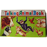 Talking Animal Book Vintage Noisemaker Book / Color Illustration / Childrens Book / Animal Noi