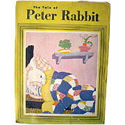 The Tale of Peter Rabbit Fern Bisel Peat Illustrations 1943 / Illustrated Childrens Book / Gif