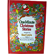 One Minute Christmas Stories Shari Lewis / Illustrated Childrens Book / Gift Book / Read Aloud