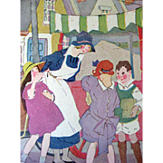 Friends Of Jimmy 1926 Vintage Childrens Book / England / Color Illustrations / Vintage Storybo