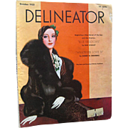 Delineator Vintage Fashion Magazine October 1932 / Robert Chambers Fiction / Vintage Advertisi