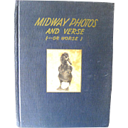 Midway Photos and Verse World War 2 Photography Book First Edition / 1940s History Book / Gift