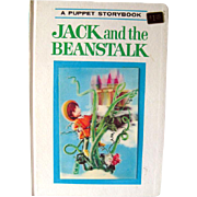 Puppet Storybook Book Jack and The Beanstalk 3D Cover / Illustrated Childrens Book / 1960s Liv