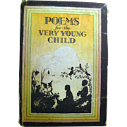 Poems for the Very Young Child With Sillhouette Illustrations / Vintage Childrens Book  / Poet