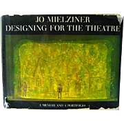 Jo Mielziner Designing for the Theatre A Memoir and a Portfolio / Vintage Theater Art Book / S