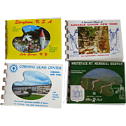 Souvenir Post Card Books Story Town USA Ausable Chasm NY Corning Glass Center Whiteface MT Mem