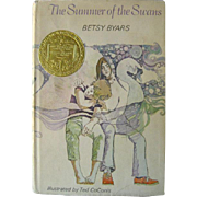The Summer of The Swans Newbery Medal Vintage Childrens Book by Betsy Byars / Young Adult ...