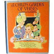 A Childs Garden Of Verses Illustrated by Fern Bisel Peat / Illustrated Childrens Book / Gift .