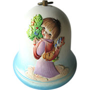 Ferrandiz Christmas Angel Music Box Bell You Light Up My Life / Swiss Music Box / Holiday ...