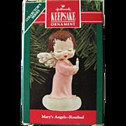 Marys Angels Rosebud Number 3 Hallmark Keepsake Ornament Mint In Box  / Christmas Ornament / .