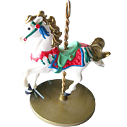 Snow Carousel Horse Hallmark Keepsake Ornament / Christmas Ornament / Christmas Tree / Vintage