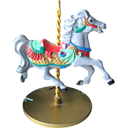 Holly Carousel Horse Hallmark Keepsake Ornament / Christmas Ornament / Christmas Tree / Vintag